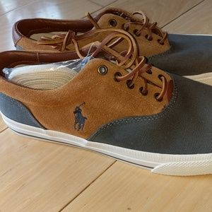 Polo ralph lauren suede leather canvas casual shoe